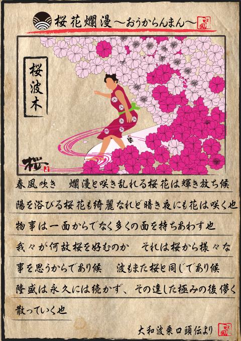桜 桜花爛漫 ファンボード 女性 初心者向け